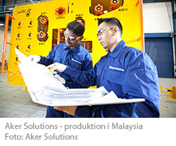 Aker Solutions produktion i Malaysia
